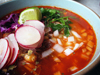 Pozole Rojo (Pork and Hominy Soup)