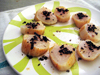Charred Scallops with Dried Olives and Sea Salt