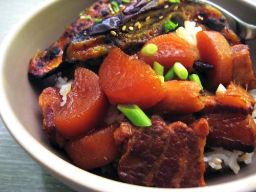 Buta No Kakuni (Japanese Braised Pork Belly) / rice and wheat