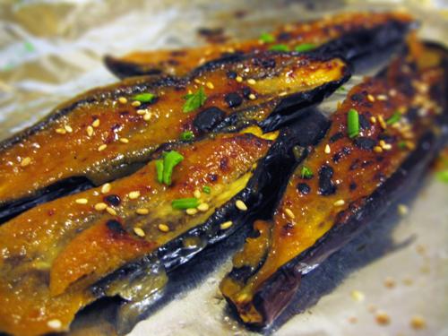nasu 20120515 miso glazed eggplant nasu dengaku miso glazed nasu no ...