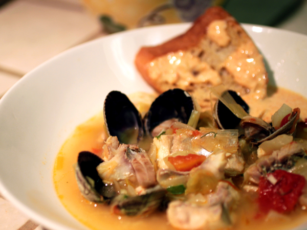 ... fish soup with saffron rouille recipes dishmaps provencal fish soup